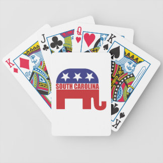 Elefante del republicano de Carolina del Sur Baraja De Cartas