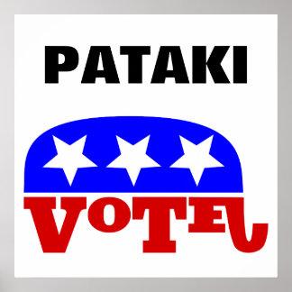 Elefante del republicano de George Pataki del voto Póster