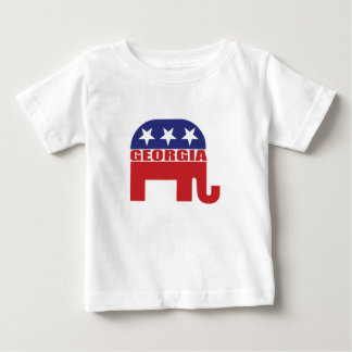Elefante del republicano de Georgia Playera De Bebé