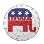 Elefante del republicano de Iowa Tabla Dardos