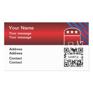 Elefante del republicano de la plantilla de la tarjetas de visita