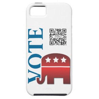 elefante del republicano de la plantilla del caso iPhone 5 carcasa