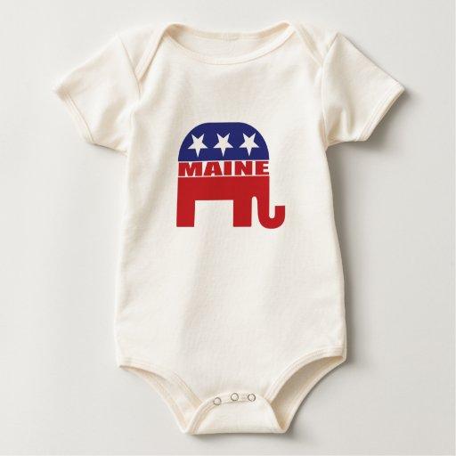 Elefante del republicano de Maine Trajes De Bebé