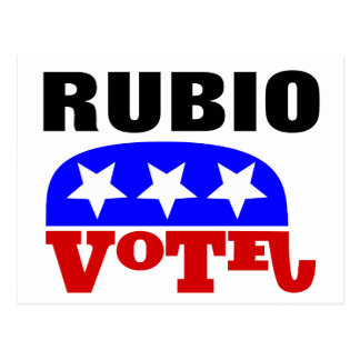 Elefante del republicano de Marco Rubio del voto Tarjeta Postal