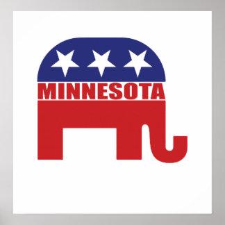 Elefante del republicano de Minnesota Poster