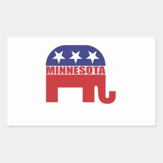 Elefante del republicano de Minnesota Pegatina Rectangular