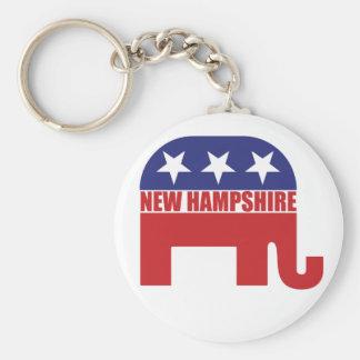 Elefante del republicano de New Hampshire Llaveros Personalizados