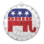 Elefante del republicano de Ohio Tablero Dardos