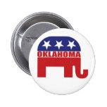 Elefante del republicano de Oklahoma Pins