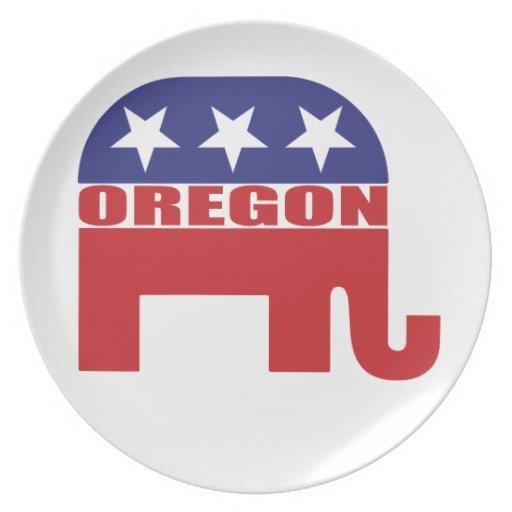 Elefante del republicano de Oregon Plato Para Fiesta