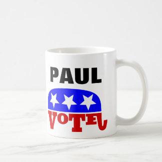 Elefante del republicano de Paul del rand del voto Taza Básica Blanca