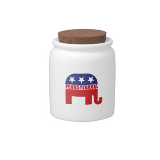 Elefante del republicano de Pennsylvania Jarras Para Caramelos