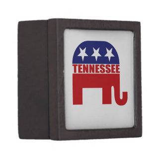 Elefante del republicano de Tennessee Cajas De Recuerdo De Calidad