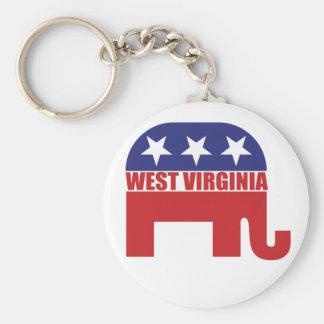 Elefante del republicano de Virginia Occidental Llavero