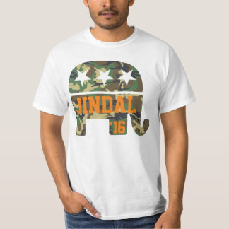 Elefante del republicano del camuflaje de Jindal Playera