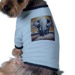 Elefante del safari camisetas mascota