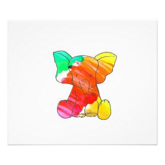 Elefante dibujado mano colorida de la acuarela fotografía
