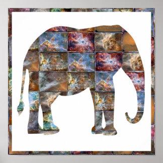 Elefante: Diseño gráfico Póster