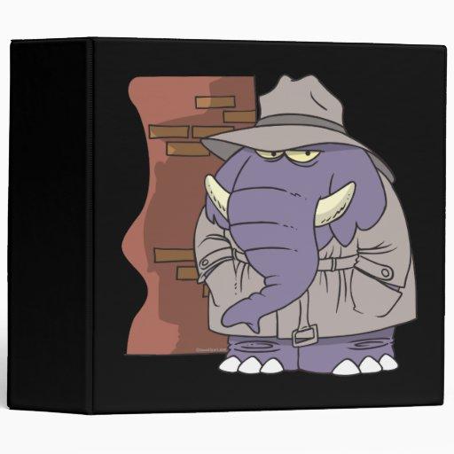 Elefante disimulado del espía del detective privad