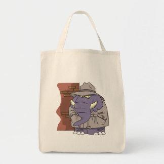 Elefante disimulado del espía del detective privad bolsa tela para la compra