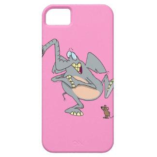 elefante divertido asustado de dibujo animado del funda para iPhone 5 barely there