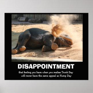 Elefante divertido DECEPCIÓN no día de chepa Poster