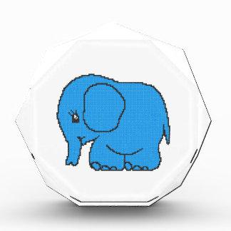 Elefante divertido del azul del punto de cruz