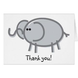 Elefante divertido en blanco tarjeta de felicitación