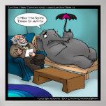 Elefante divertido en poster de la terapia