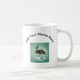 Elefante divertido en una burbuja taza de café