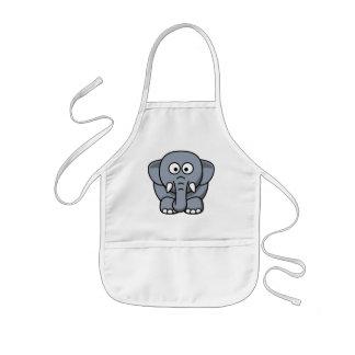 Elefante divertido lindo delantales