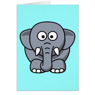 Elefante divertido lindo tarjeta de felicitación