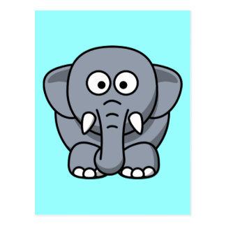 Elefante divertido lindo postales