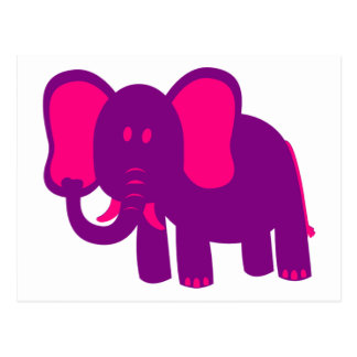 Elefante divertido lindo tarjeta postal