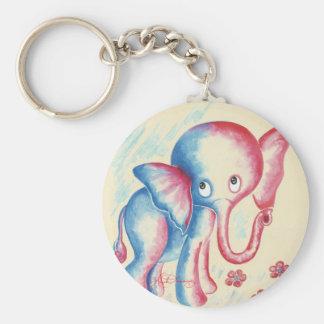 Elefante divertido llavero redondo tipo pin