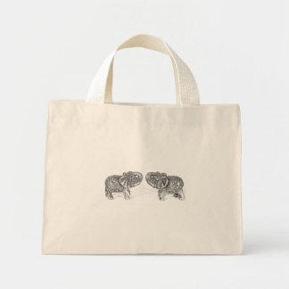 Elefante doble de Feng Shui - B&W Bolsas De Mano