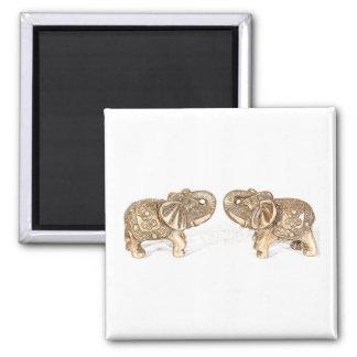 Elefante doble de Feng Shui Imán Cuadrado