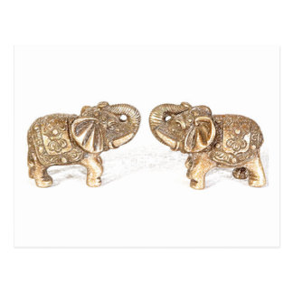 Elefante doble de Feng Shui Tarjeta Postal