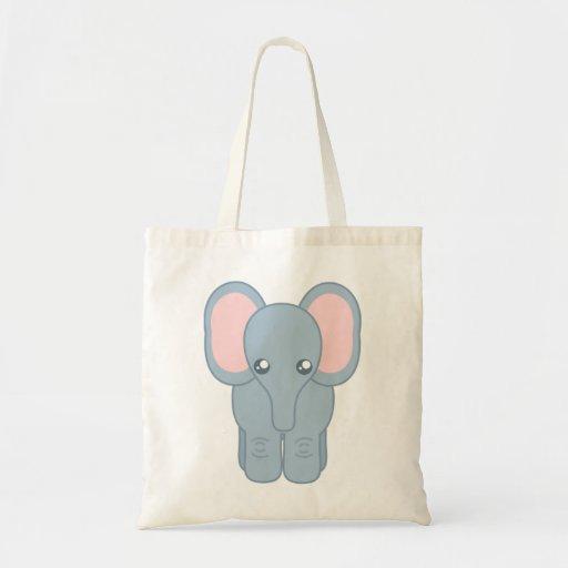 Elefante dulce del bebé bolsas de mano