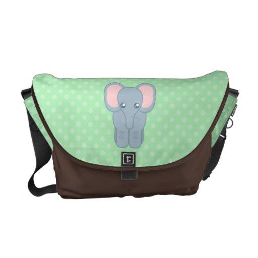 Elefante dulce del bebé bolsas messenger