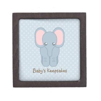 Elefante dulce del bebé cajas de recuerdo de calidad
