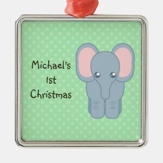 Elefante dulce del bebé ornato