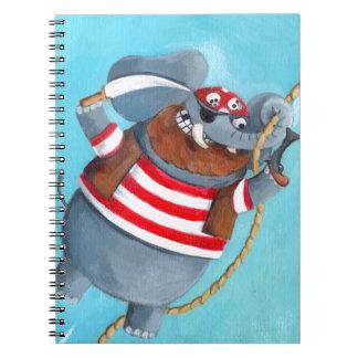 Elefante - el mejor animal del pirata libros de apuntes