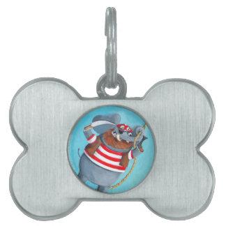 Elefante - el mejor animal del pirata placa mascota