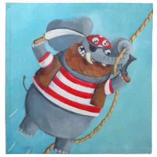 Elefante - el mejor animal del pirata servilletas de papel