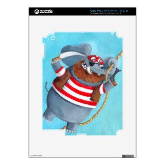 Elefante - el mejor animal del pirata pegatina skin para iPad 3