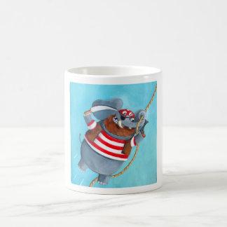 Elefante - el mejor animal del pirata tazas de café