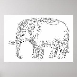 Elefante elegante posters