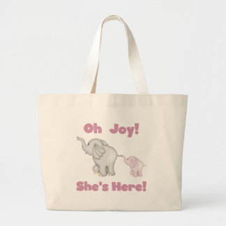 Elefante ella está aquí bolsa tela grande