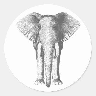 Elefante en blanco y negro pegatinas